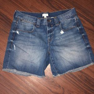 nwot j. crew distressed jean shorts